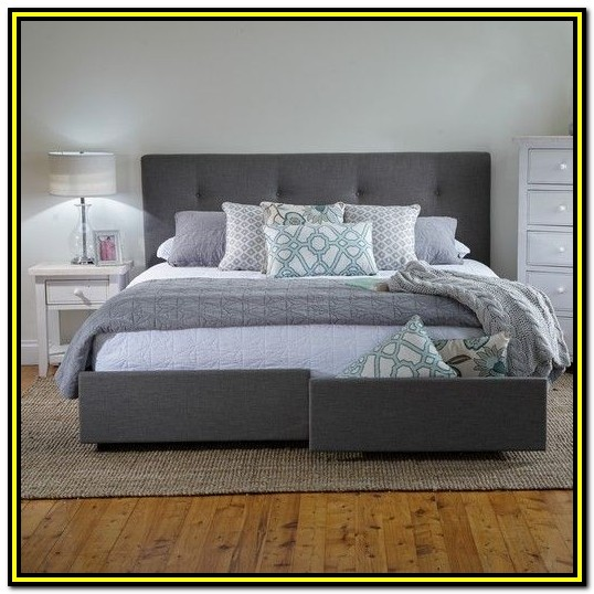 Bed Frame With Drawers King