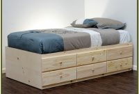 Bed Frame With Drawers Twin