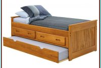 Bed With Trundle And Storage Drawers