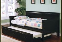 Black Daybed With Trundle And Mattresses