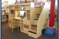 Bunk Bed With Staircase And Desk