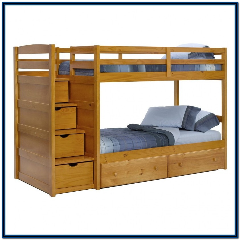Bunk Bed With Stairs And Desk Plans