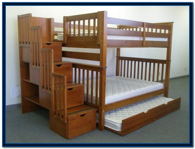 Bunk Bed With Stairs Plans
