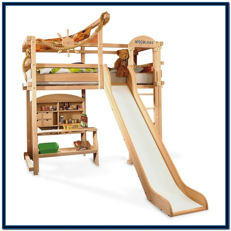Bunk Beds With Stairs And Desk And Slide