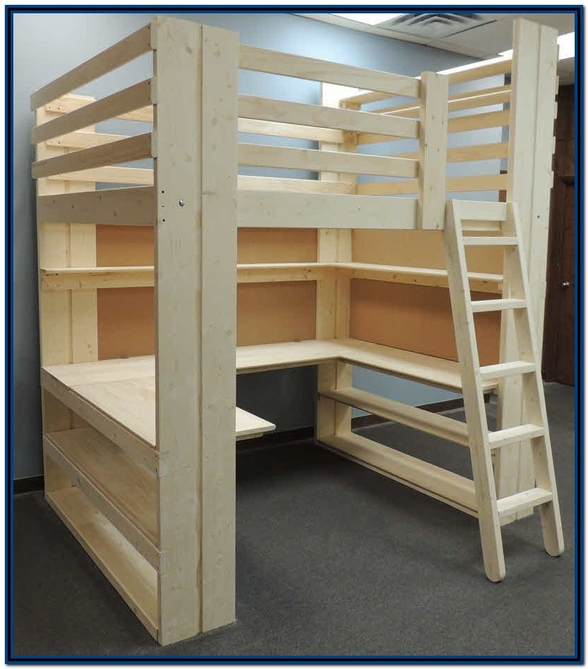 Bunk Beds With Stairs And Desk