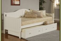 Daybed With Trundle White Wood