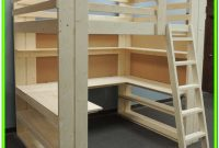 Diy Loft Bed With Stairs And Desk