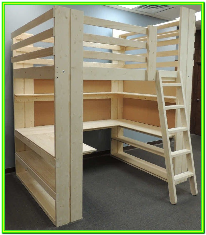 Diy Loft Bed With Stairs And Deskdiy Loft Bed With Stairs And Desk