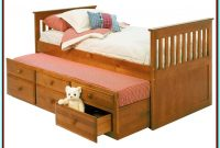 Double Bed With Trundle And Storage Drawers