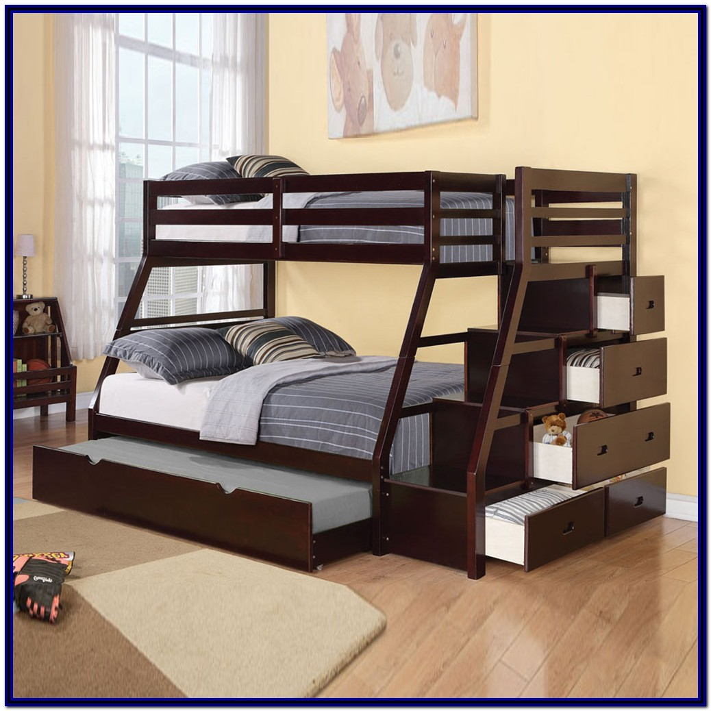 Double Bunk Beds With Stairs And Storage