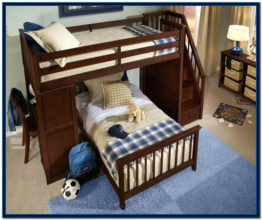 Double Bunk Beds With Stairs Uk