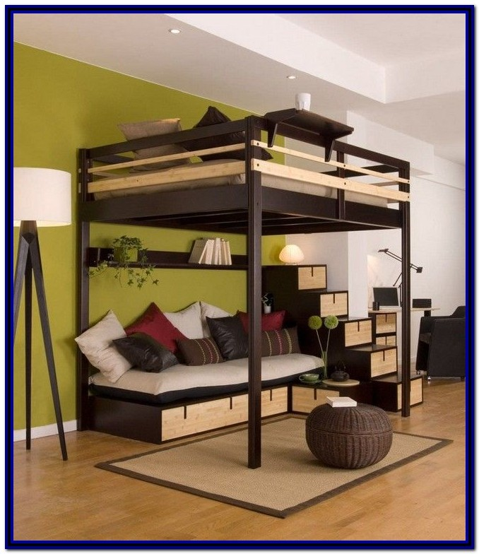 Double Loft Bed With Desk Ikea
