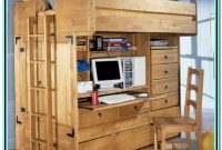 Double Loft Bed With Desk Plans