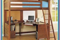 Full Loft Bed With Desk And Futon