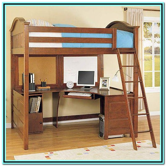 Full Loft Bed With Desk Plans