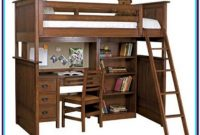 Full Loft Bed With Desk Wood