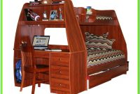 Full Loft Bed With Stairs And Desk