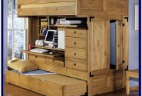 Full Size Loft Beds With Desk And Storage