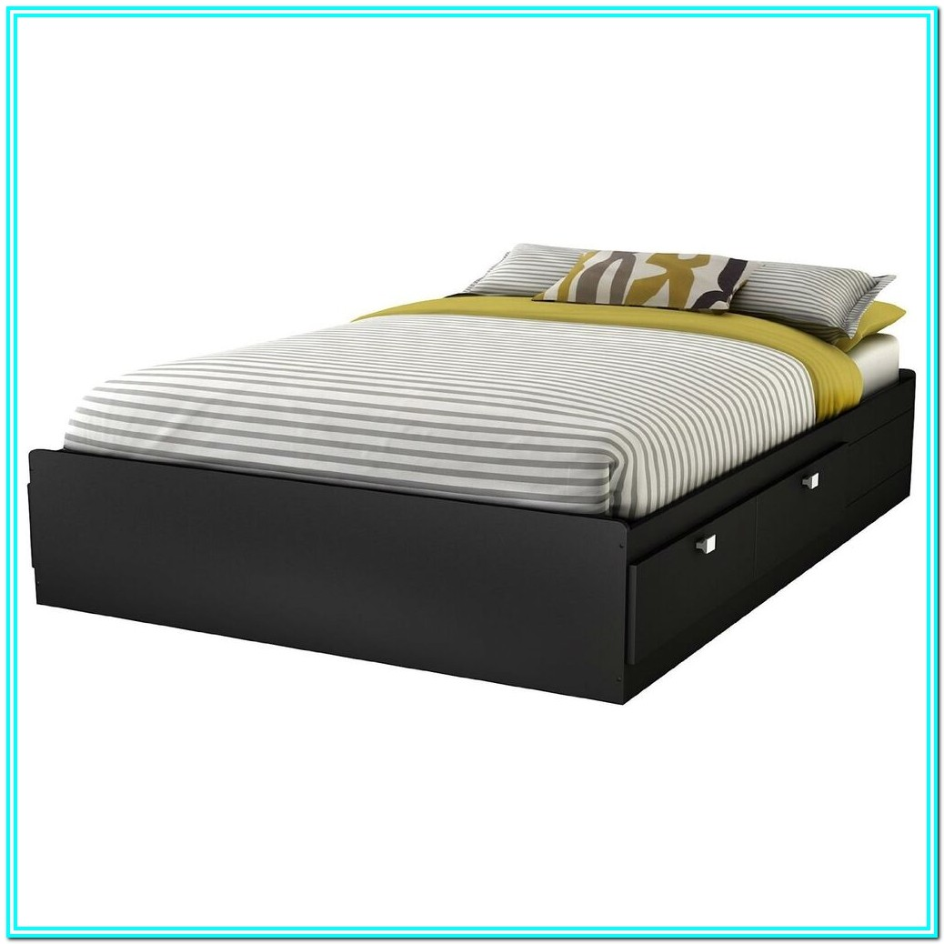 Full Size Platform Bed With Storage Drawers Plans