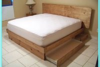 King Platform Bed With Drawers Underneath