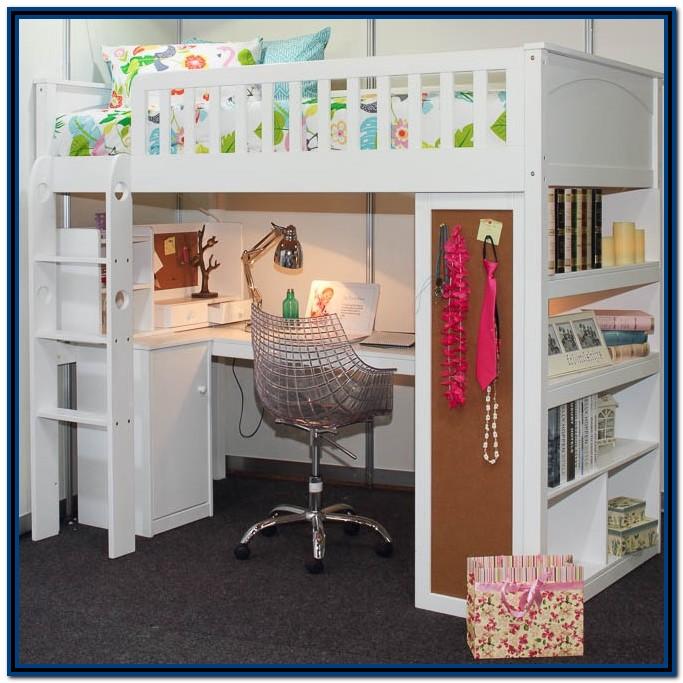 King Single Loft Bed With Desk Australia
