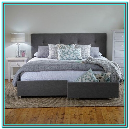 King Size Bed Frames With Storage Drawers