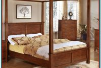King Size Canopy Bed Frame Wood