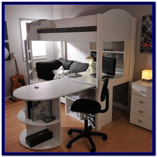 Loft Bed With Desk And Pull Out Sofa