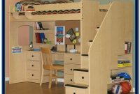 Loft Bed With Desk And Stairs Plans