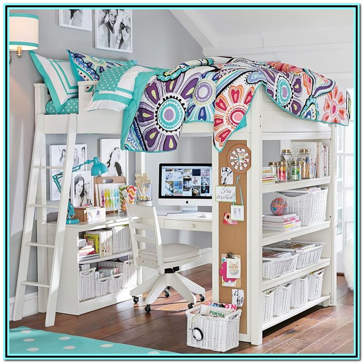 Loft Bed With Desk For Girl