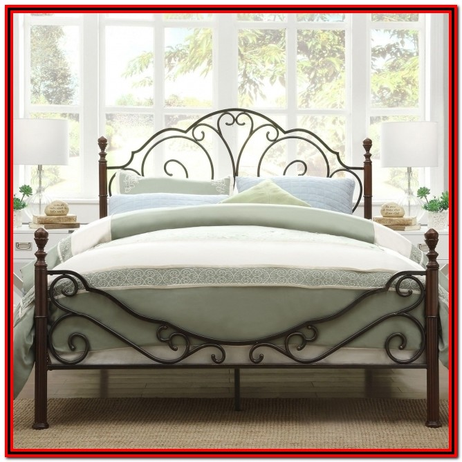 Metal Bed Frame With Headboard King