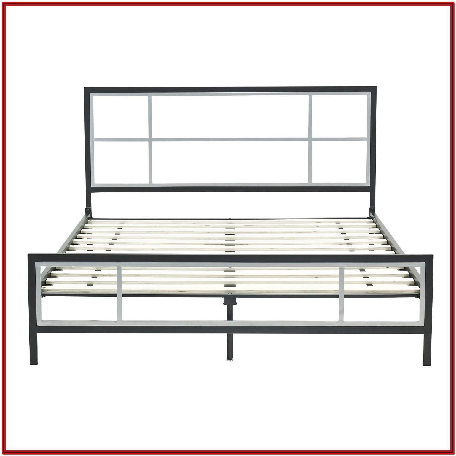 Metal Bed Frame With Headboard Queen