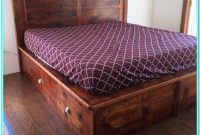 Platform Bed With Drawers King