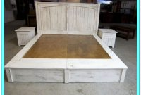 Platform Bed With Drawers King Plans