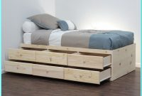 Platform Bed With Drawers No Headboard