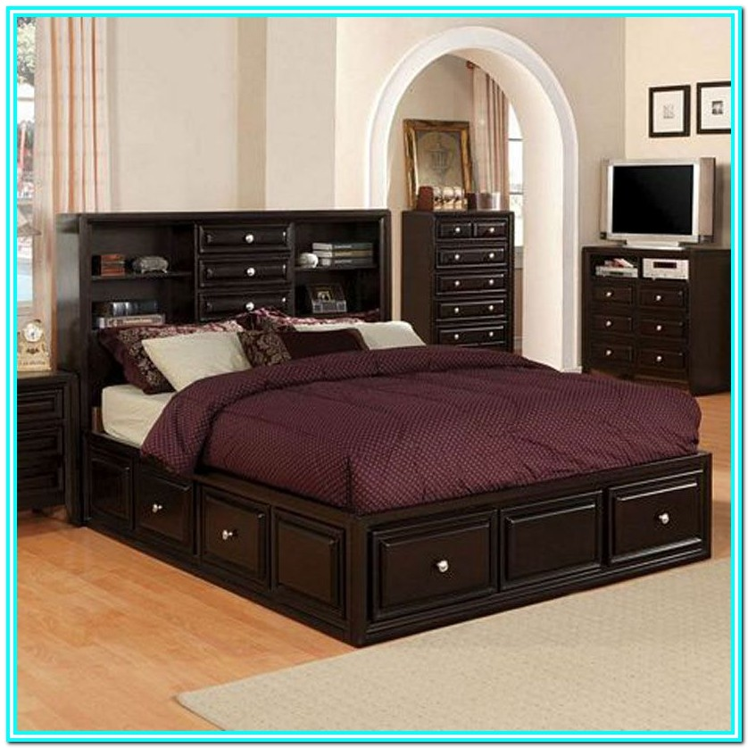 Platform Bed With Drawers Queen Plans