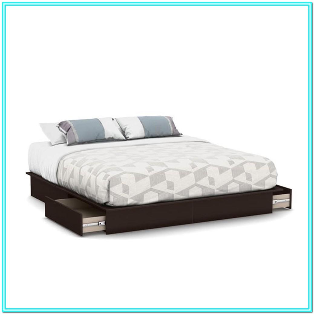 Platform Bed With Storage Drawers King