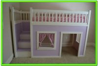 Playhouse Loft Bed With Stairs Plans