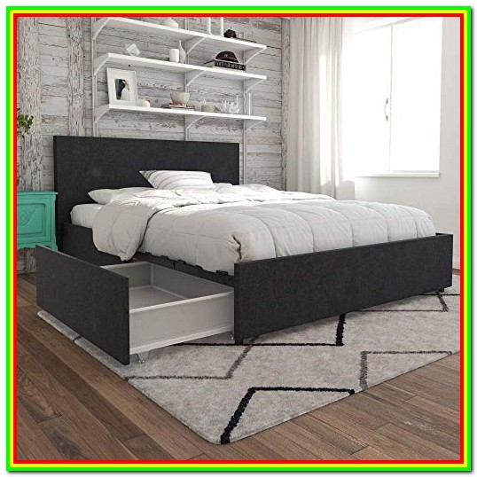 Queen Bed Frame With Storage Amazon