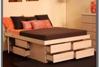 Queen Bed Frame With Storage No Headboard