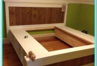 Queen Platform Bed With Storage Diy Plans