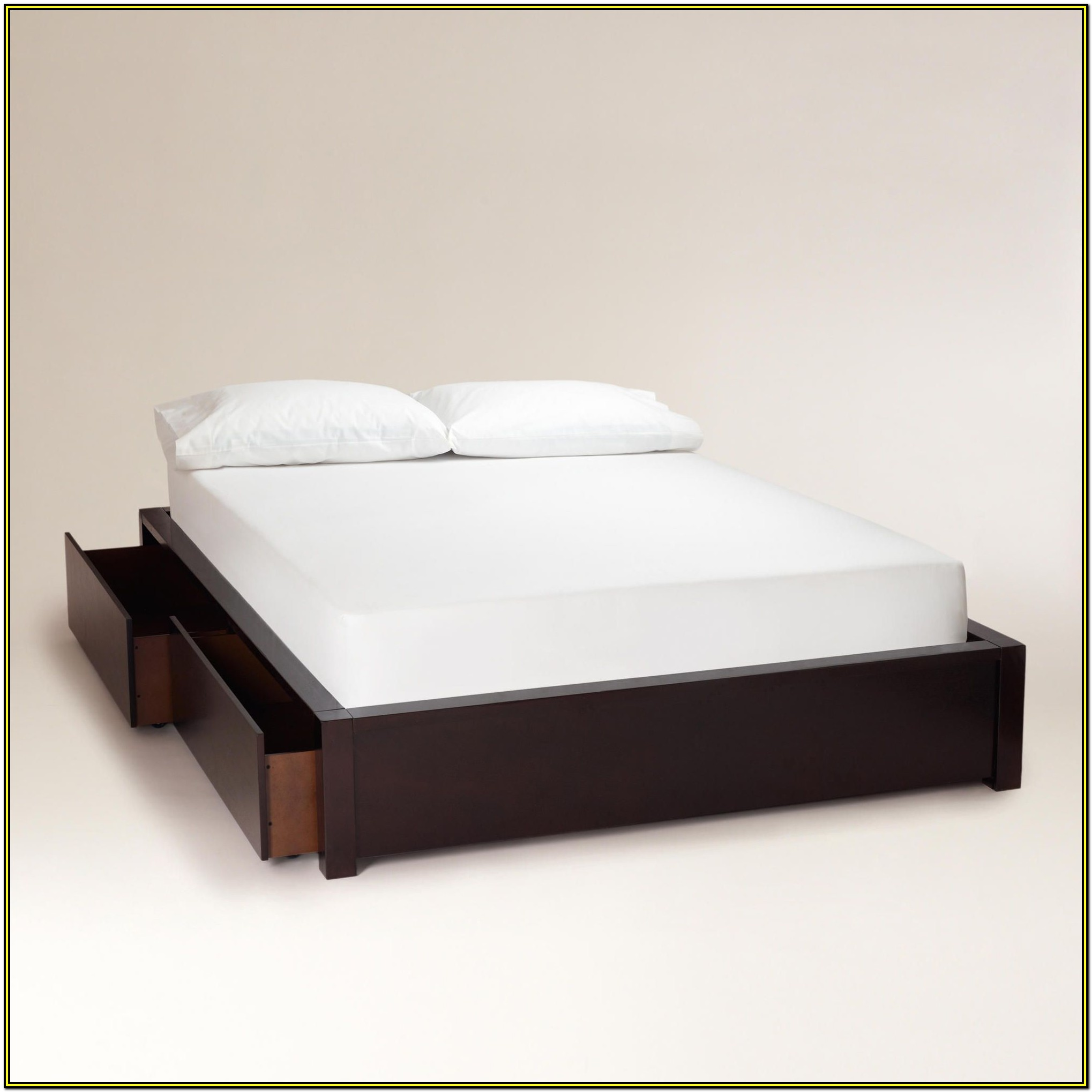 Queen Size Wood Bed Frame With Drawers
