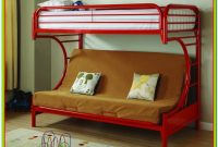Red Metal Bunk Beds Twin Over Full