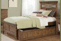 Single Wooden Bed Frame With Drawers