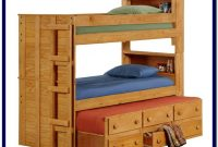 Solid Wood Bunk Bed With Desk And Drawers