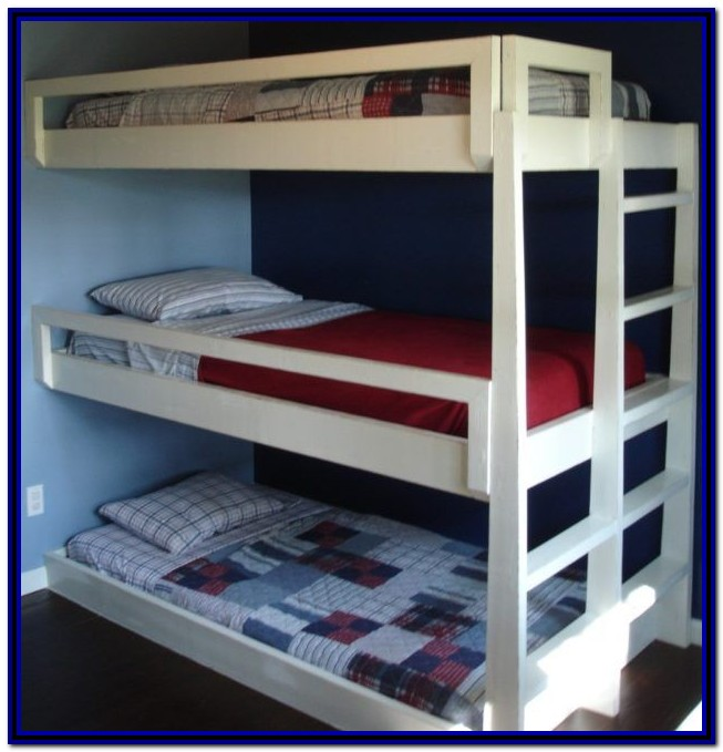 Triple Bunk Beds With Stairs And Storage
