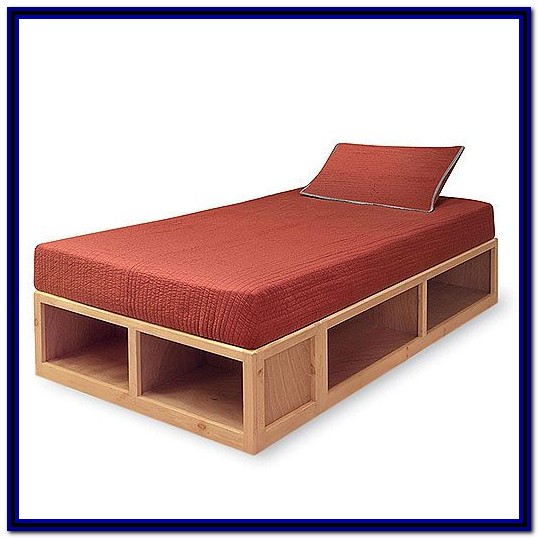 Twin Bed Frame With Storage Diy