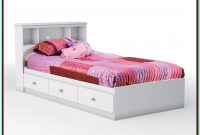 Twin Bed Frame With Storage White