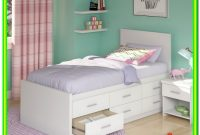 Twin Bed With 6 Drawers White