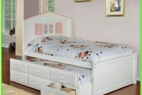 Twin Bed With Drawers White